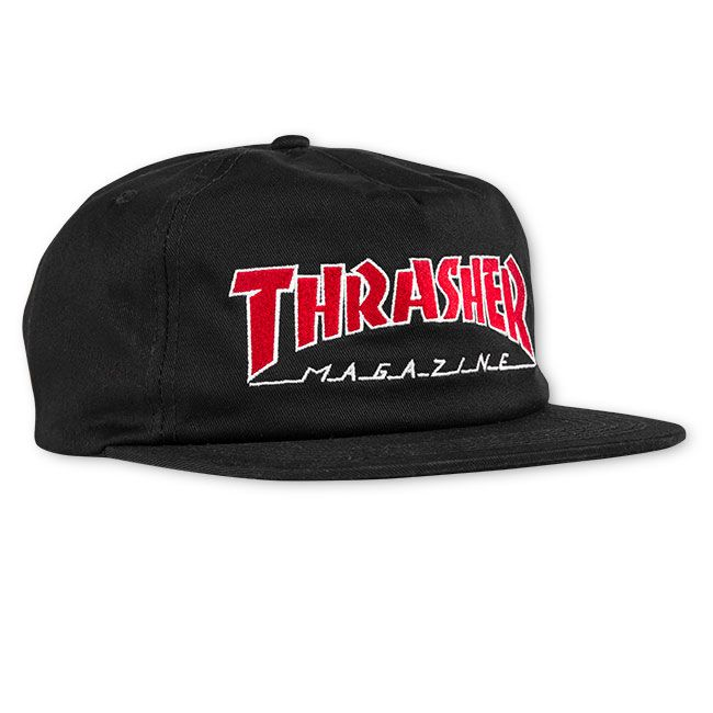 Thrasher šiltovka OUTLINED SNAPBACK - BLACK