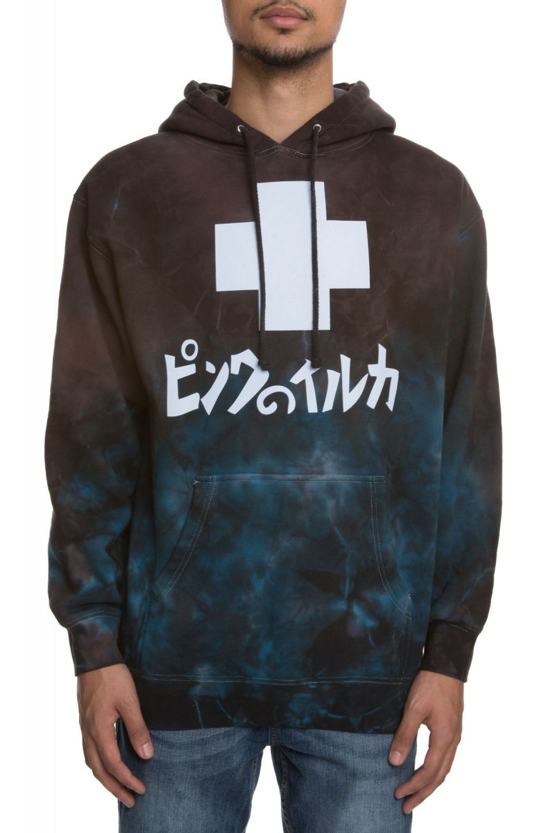 Pink Dolphin mikina  MARBLE HOODIE- black
