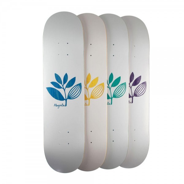 Magenta doska TEAM WOOD DECK - white 8.5