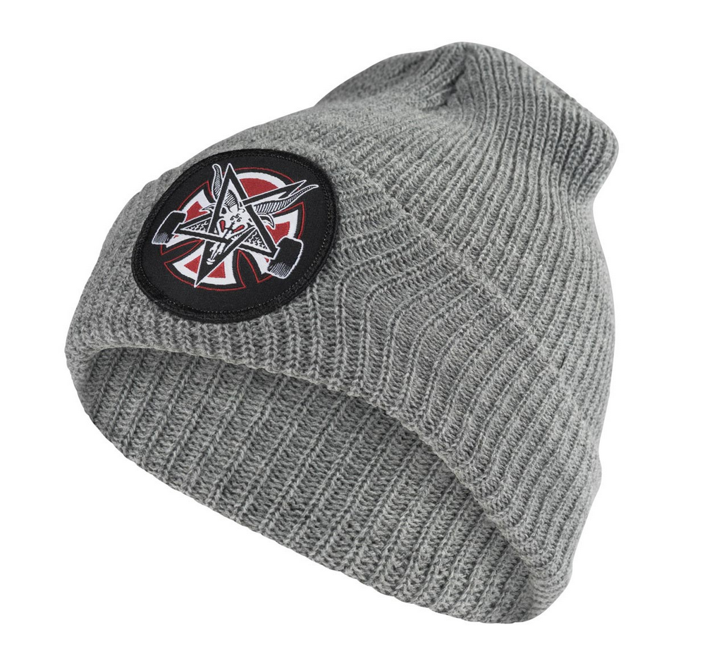 Thrasher čiapka THRASHER PENTAGRAM CROSS LONG SHOREMAN BEANIE HATS- heather grey