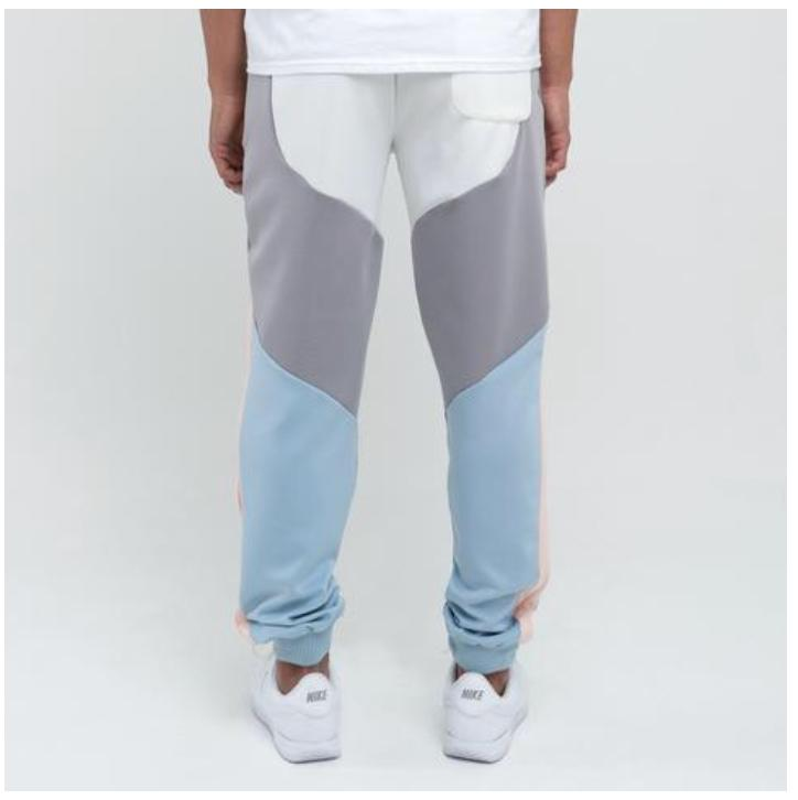Pink Dolphin nohavice BOLD TRACK PANT- blue/pink