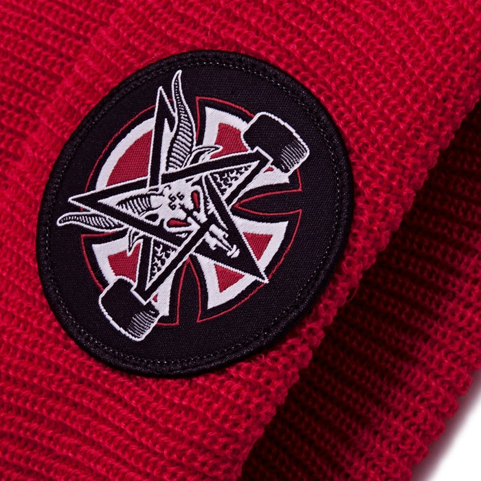 Thrasher čiapka THRASHER PENTAGRAM CROSS LONG SHOREMAN BEANIE HATS- lipstick