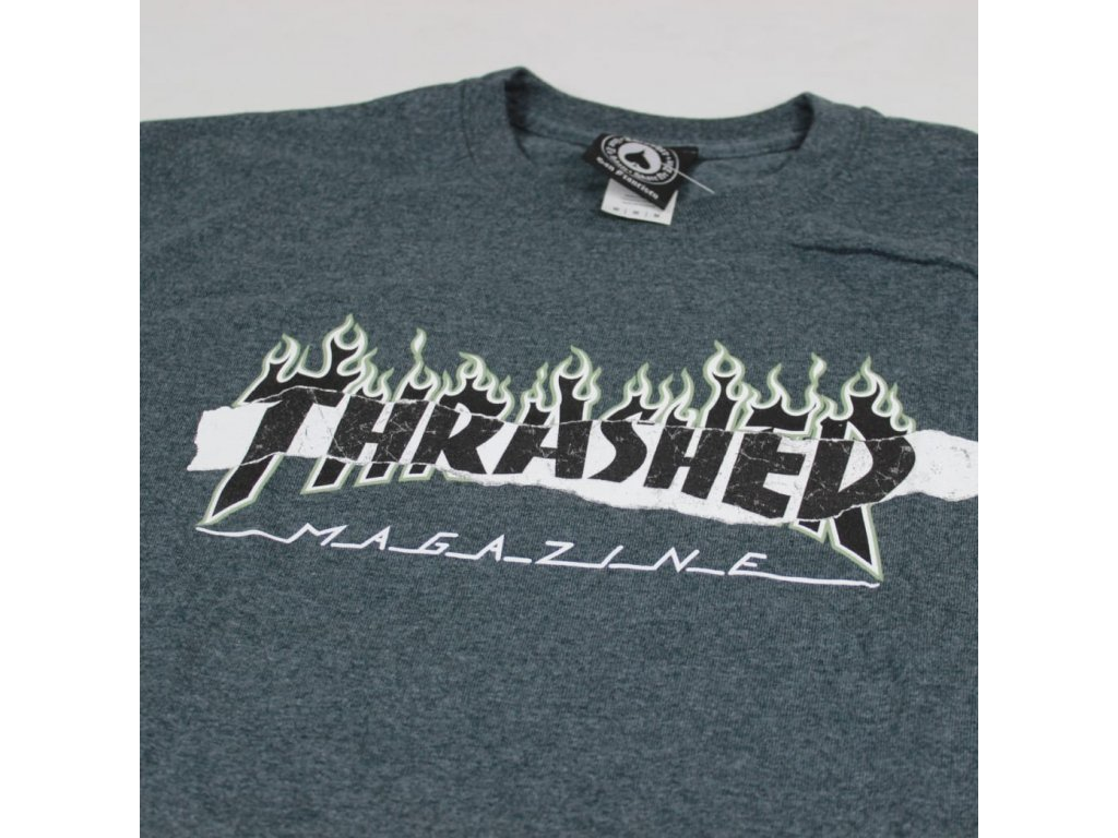 Thrasher tričko RIPPED DARK HEATHER