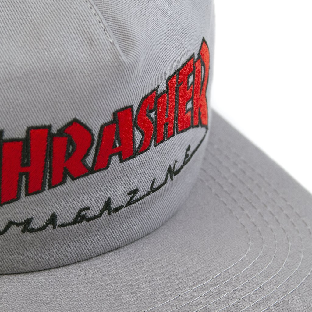 Thrasher šiltovka OUTLINED SNAPBACK- grey/red