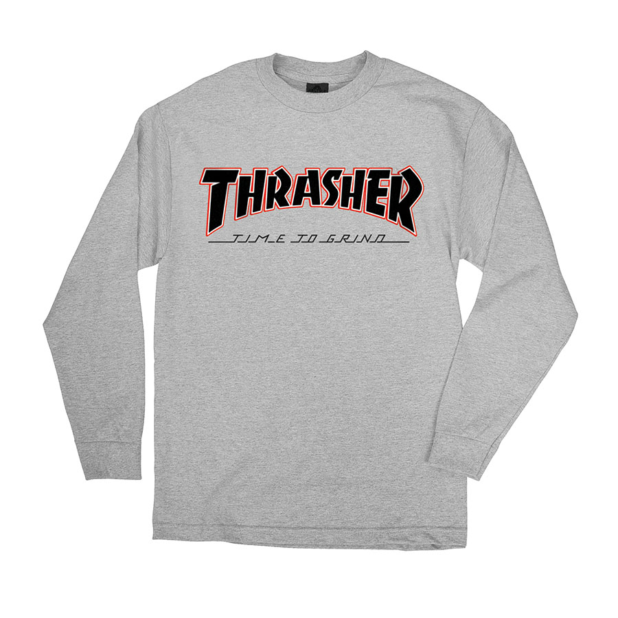 Thrasher tričko INDEPENDENT X  THRASHER TTG L/S- ath grey
