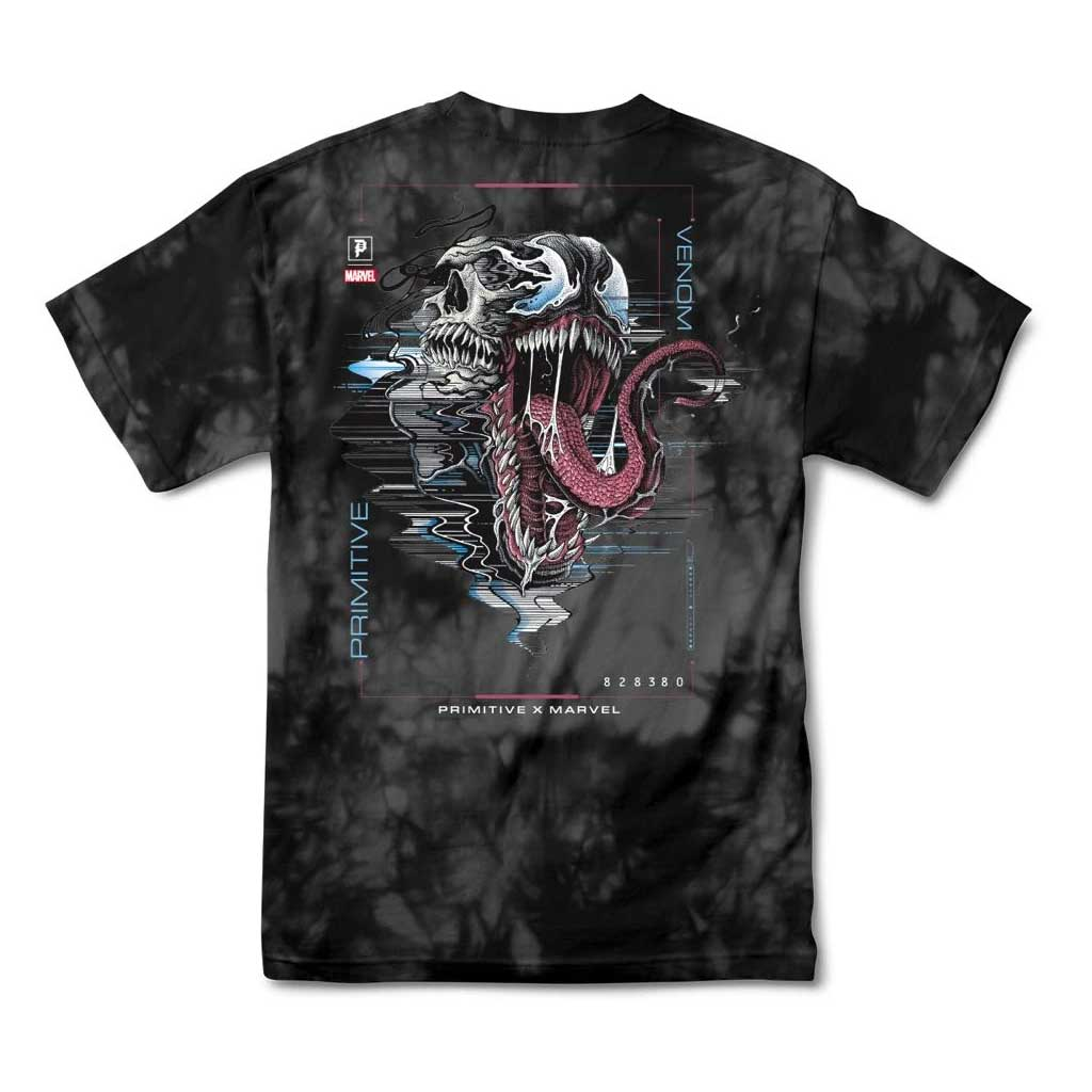 Primitive tričko Venom Washed tee - Black