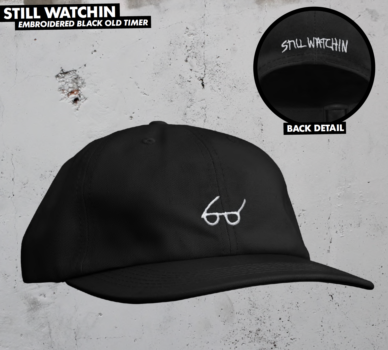 Thrasher šiltovka STILL WATCHIN OLD TIMER HAT - black