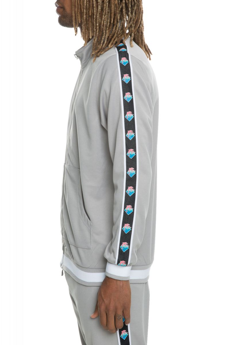 Pink Dolphin mikina Wavesport Track Jacket in Grey