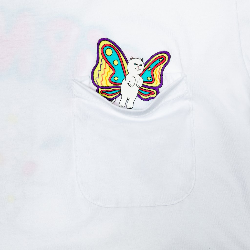 RIPNDIP tričko Floating Pocket Tee - white