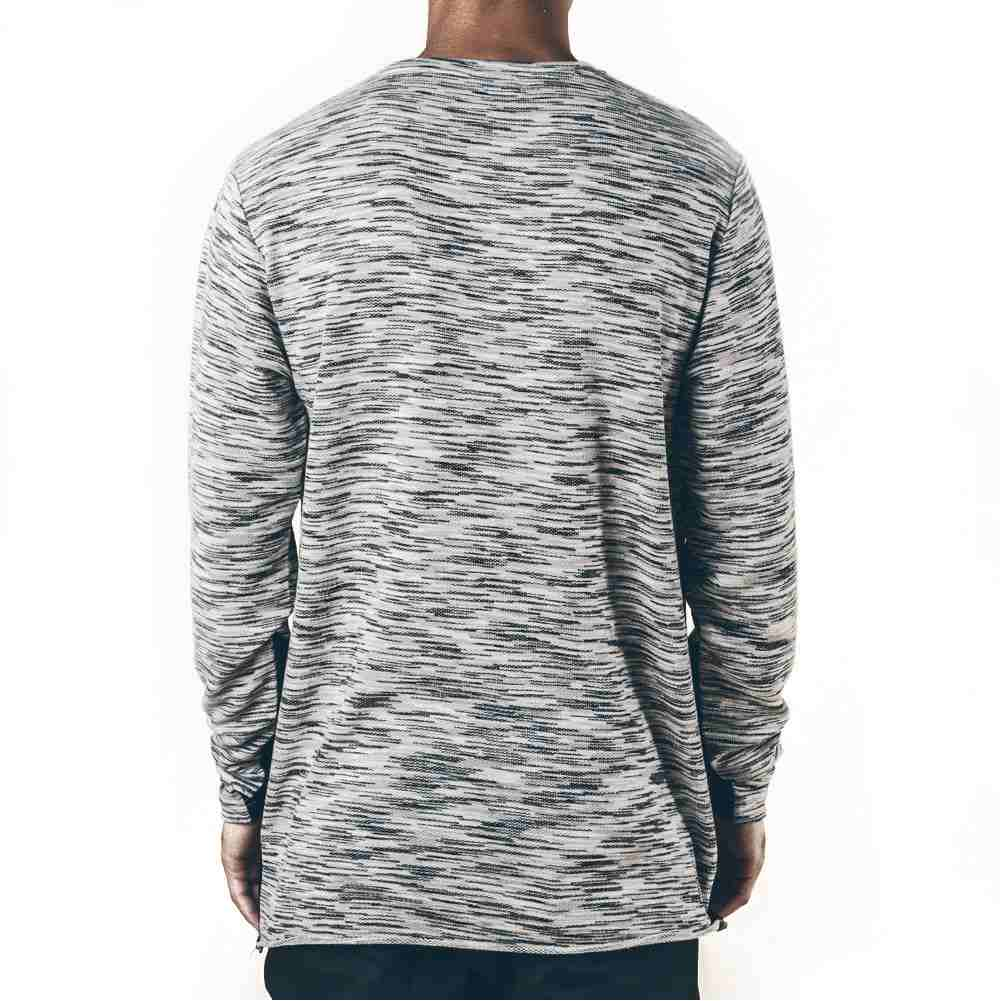 Pink Dolphin tričko MARBLE WEAVE LIGHTWEIGHT SWEATER GRAY