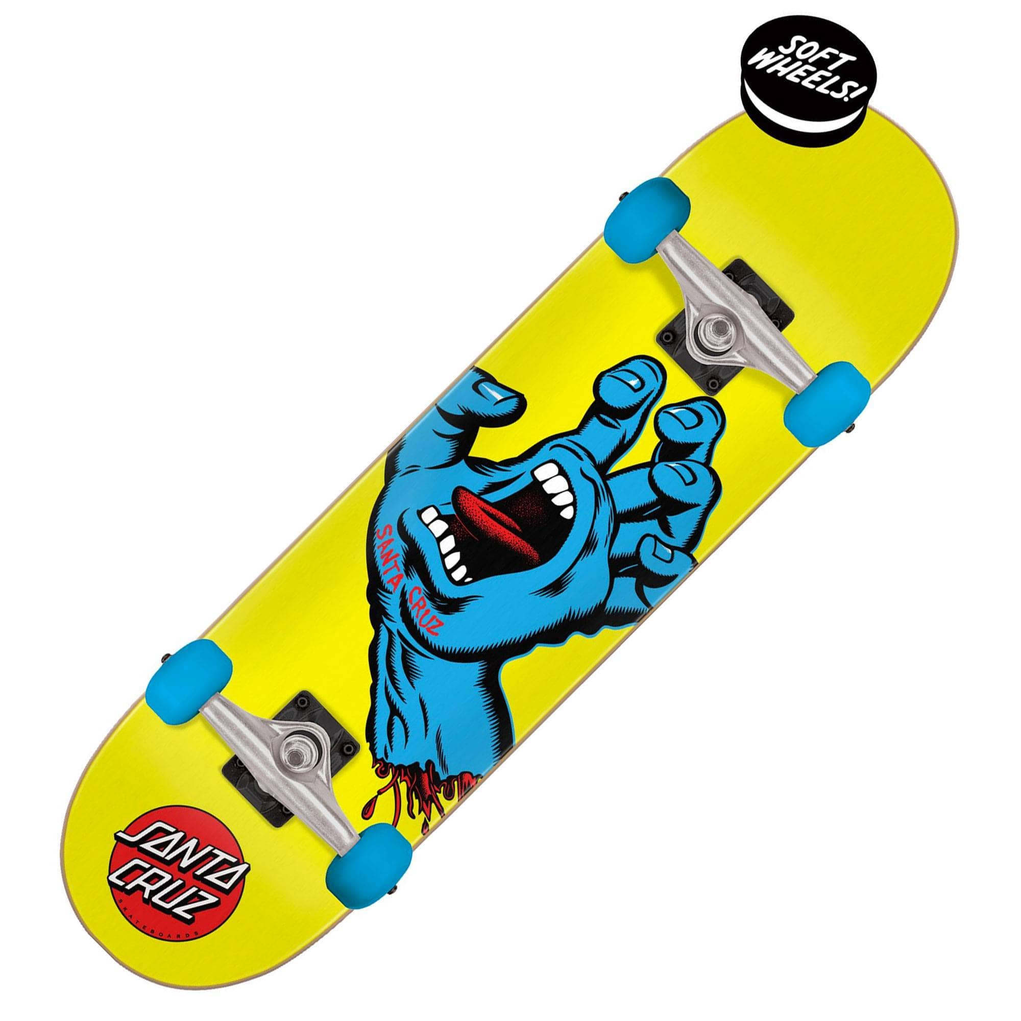 Santa Cruz komplet Screaming Hand Mini Sk8 Completes 7.75 Yellow / Blue