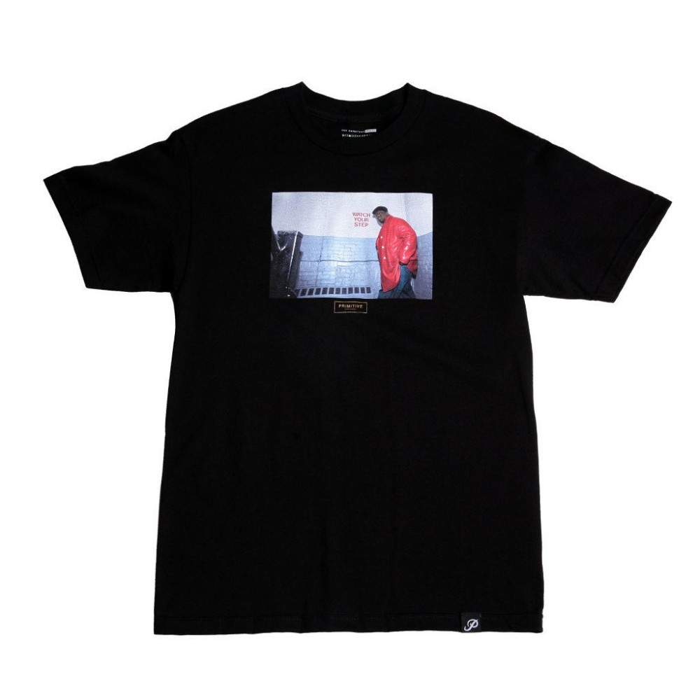 "Primitive tričko - ""BIGGIE  WATCH YOUR STEP TEE "" black"