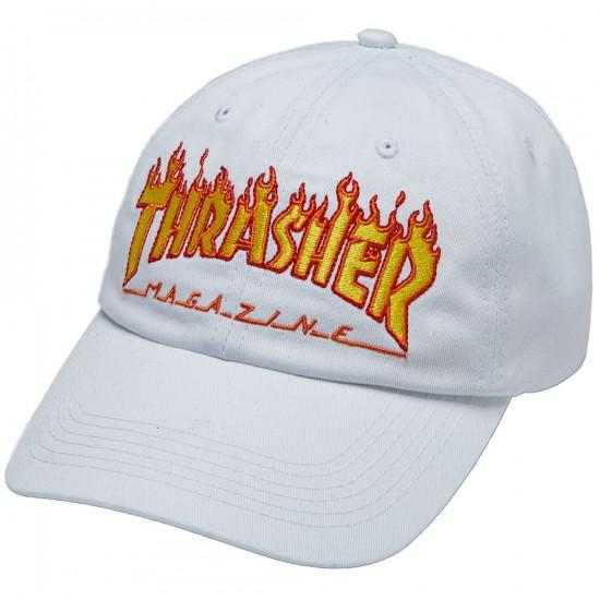 Thrasher FLAME OLD TIMER HAT white