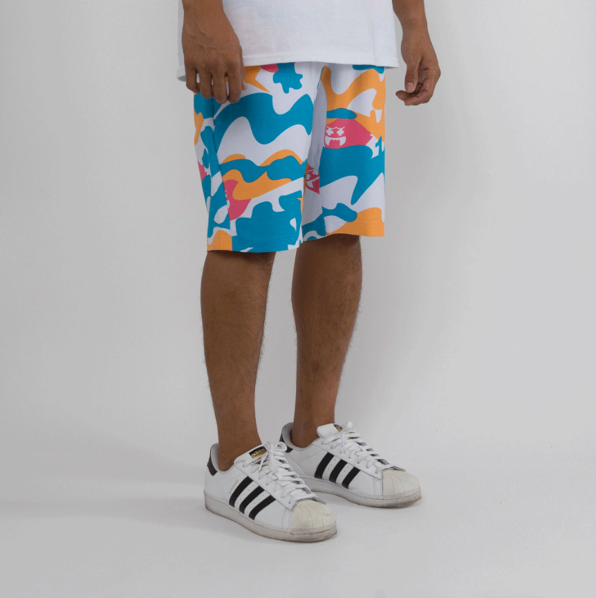 Pink Dolphin GHOST CAMO SHORTS