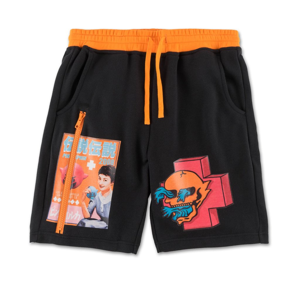 Pink Dolphin kraťasy WAVE TOUR SHORTS- black