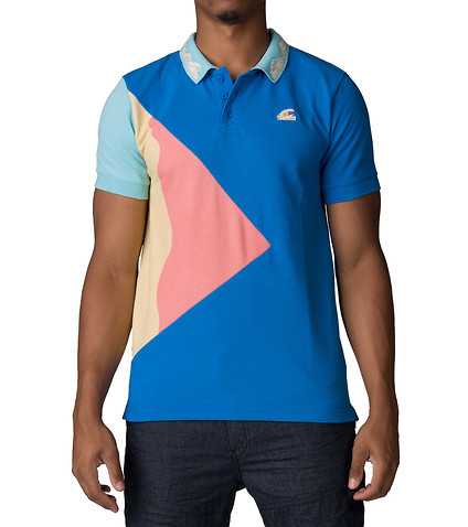 Pink Dolphin tričko TSUNAMI WAVES POLO BLUE