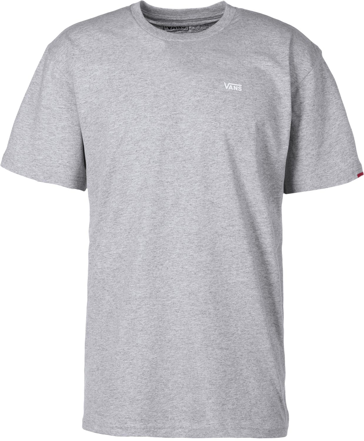 VANS tričko LEFT CHEST LOGO TEE- grey