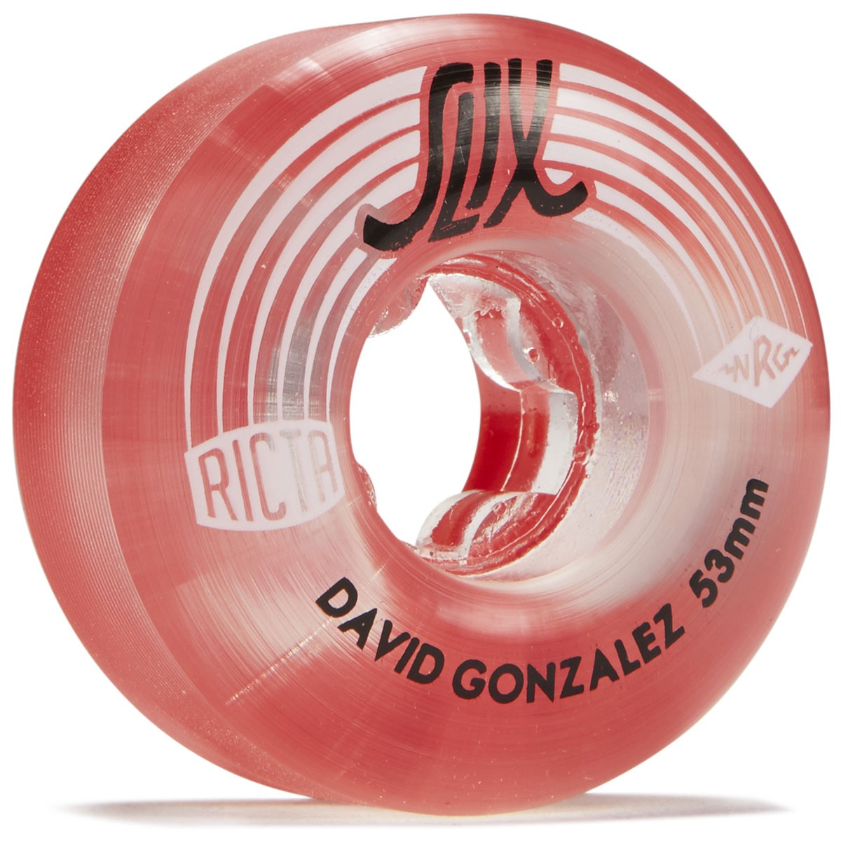 Ricta kolieska 53mm David Gonzalez Crystal Slix Clear Red 99a