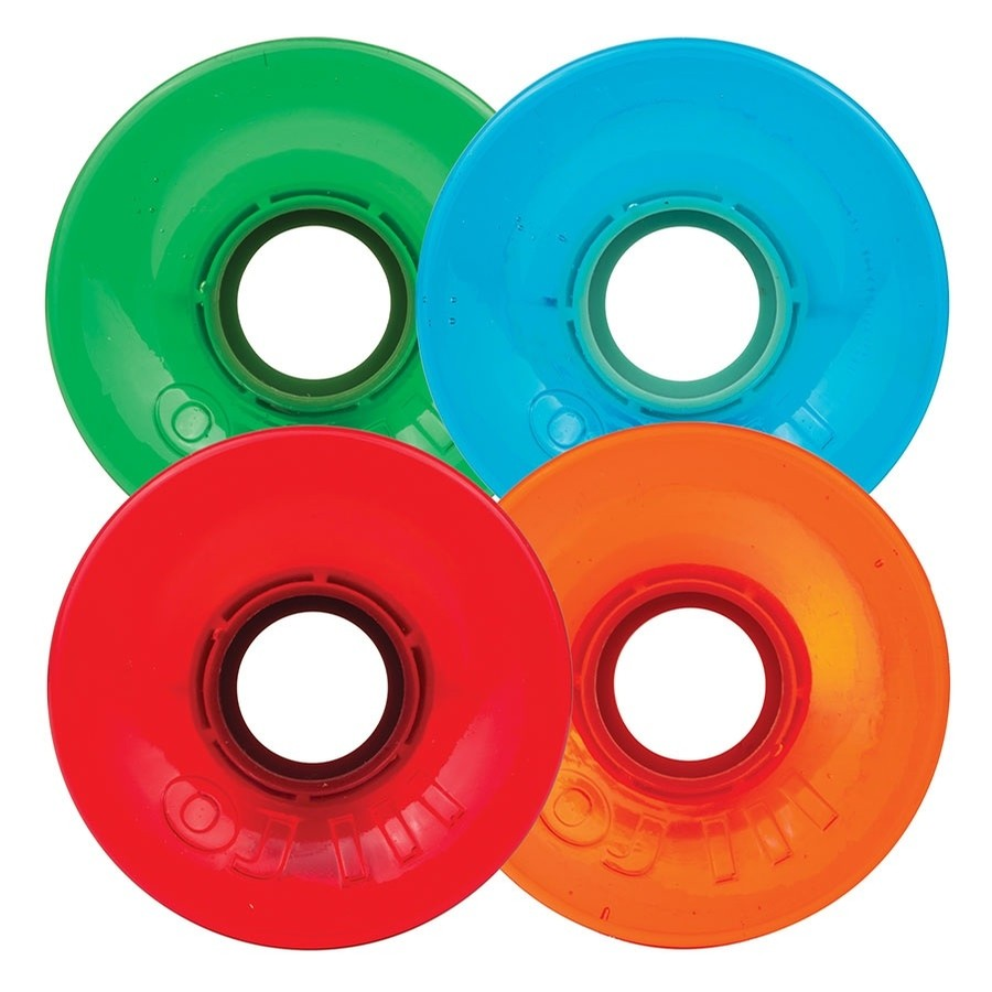 OJ´s kolieska 60mm  Hot Juice Candy Trans Red/Blue/Green/Orange 78a OJ