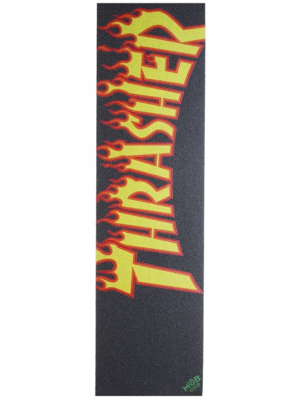 MOB griptape Thrasher Yellow and Orange Flame Grip Tape 9in x 33in