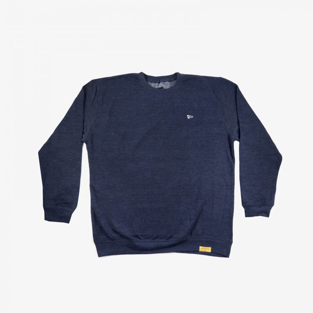 Primitive mikina PENNANT LOGO PATCH CREWNECK- navy