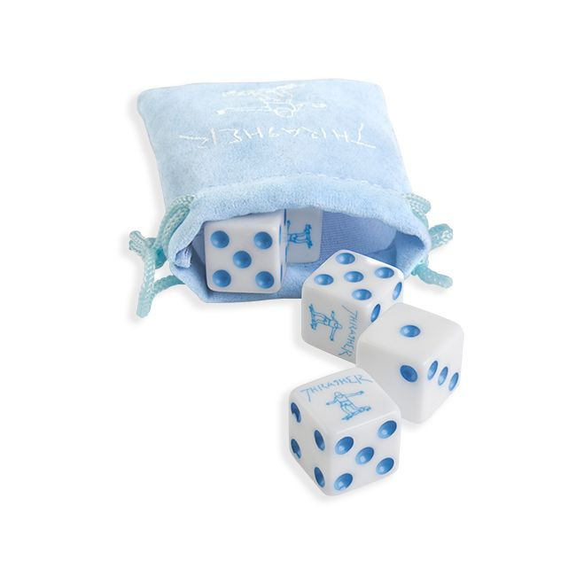 Thrasher kocky NEW THRASHER DICE SET (BLUE)