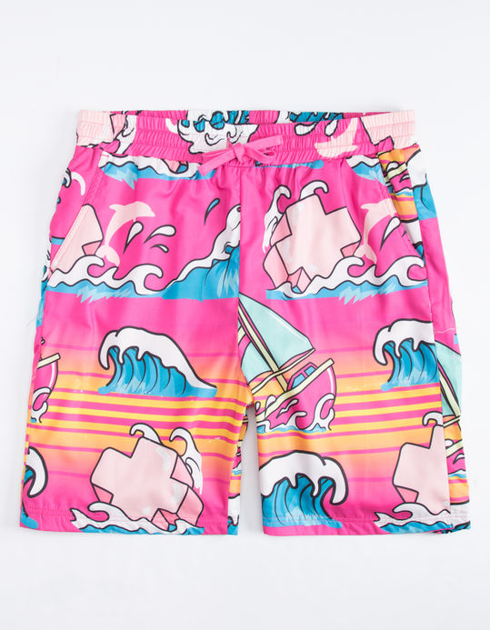 Pink Dolphin plavky SUMMER SPLASH SHORT- pink