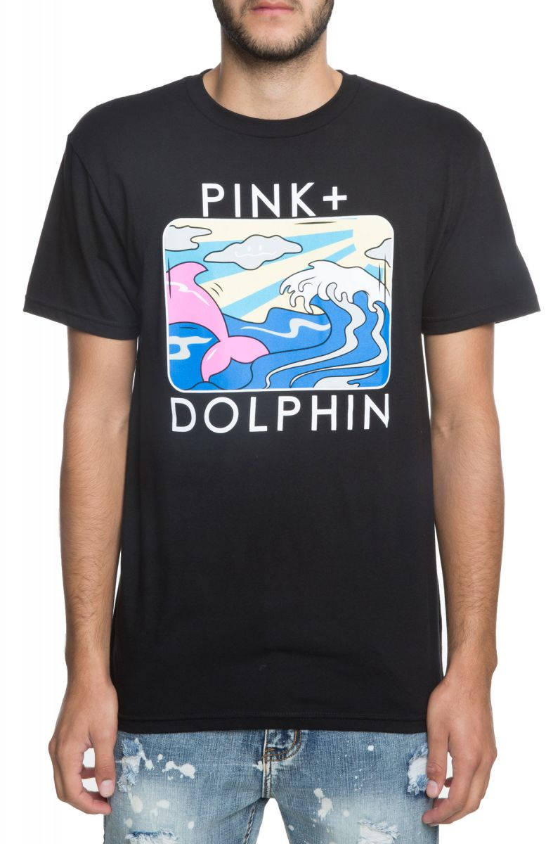 Pink Dolphin tričko HOLIDAY PORTRAIT TEE-black