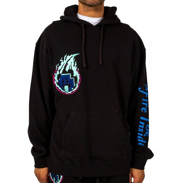 Pink Dolphin mikina FUEL FOR FIRE HOODIE - black