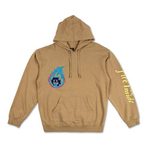 Pink Dolphin mikina FUEL FOR FIRE HOODIE - tan