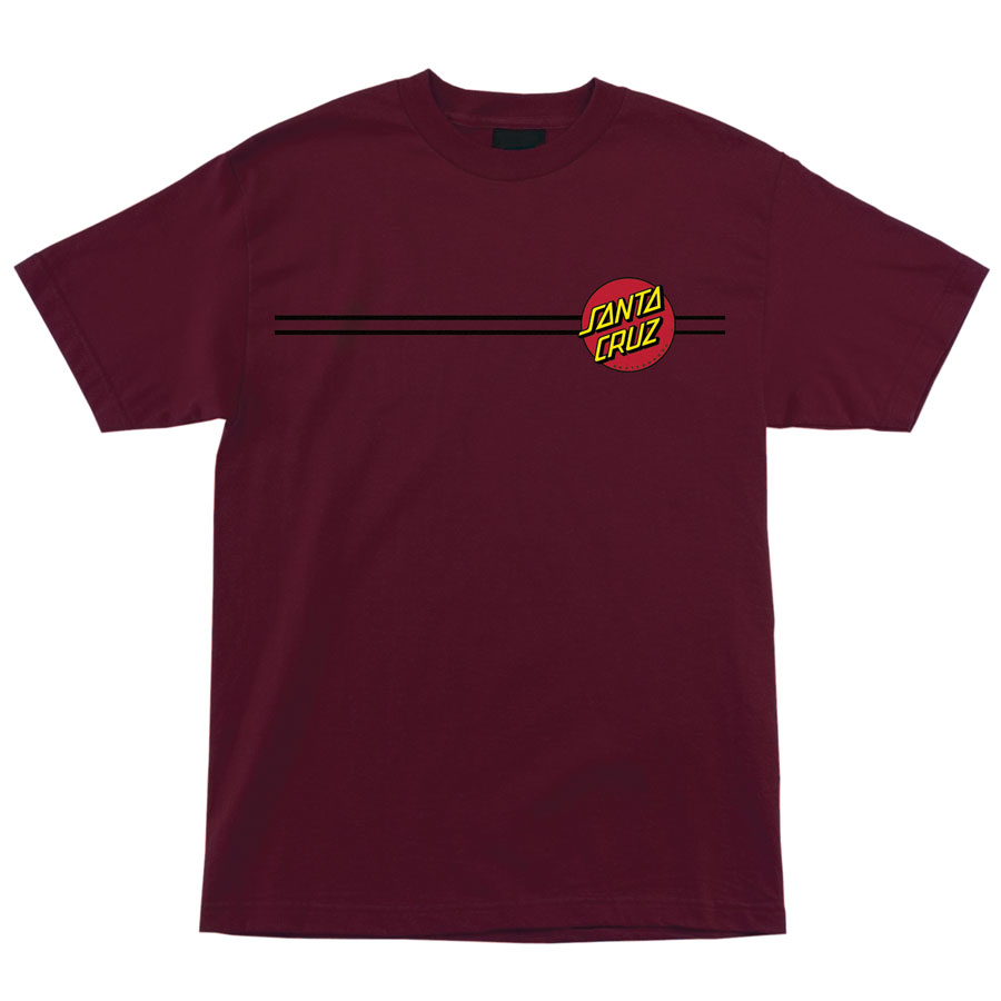 SANTA CRUZ tričko Classic Dot S/S Regular T- Shirt Burgundy