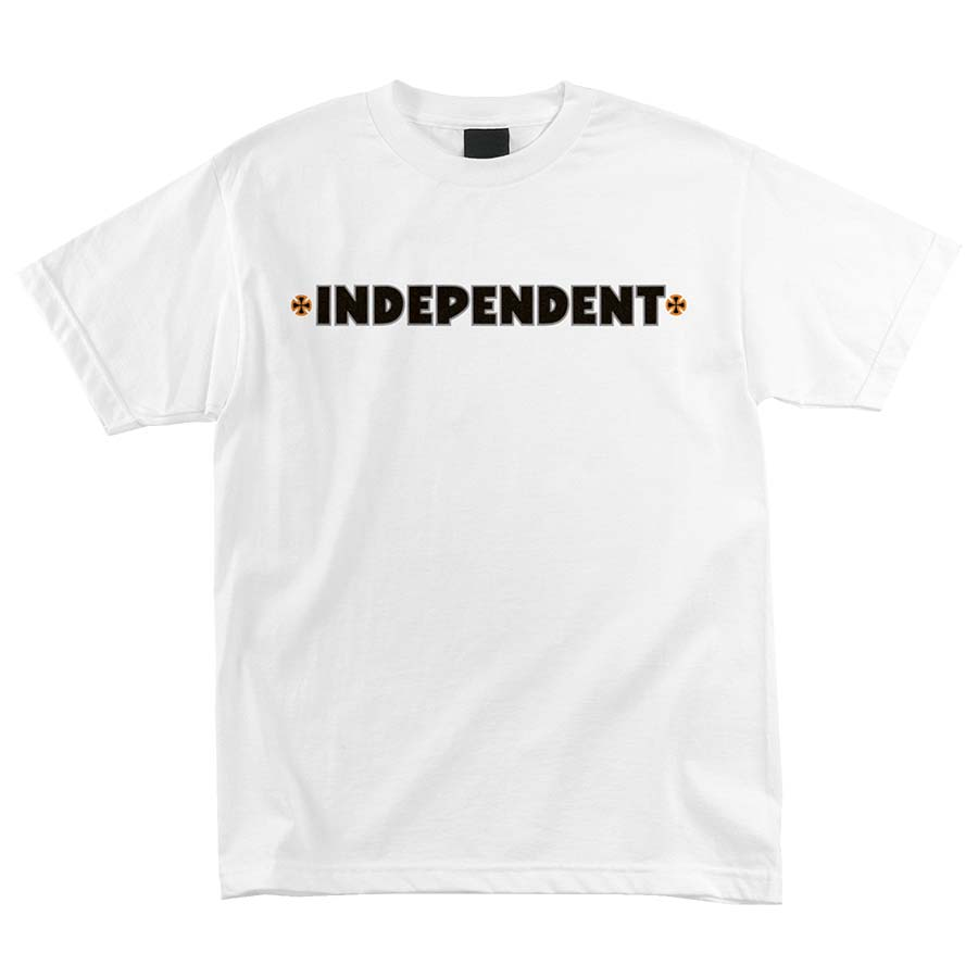INDEPENDENT tričko B/C Primary s/s Regular T- Shirt White/ Orange