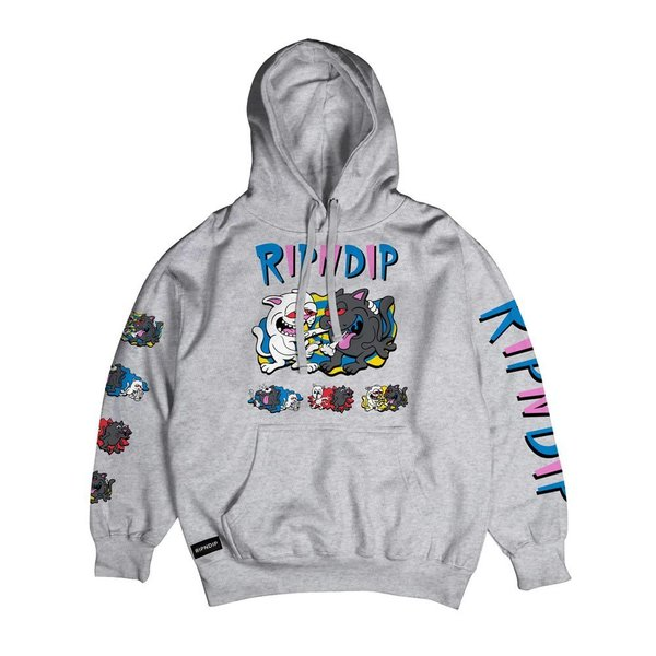 RIPNDIP mikina Hash Bros Hoodie - Heather Grey