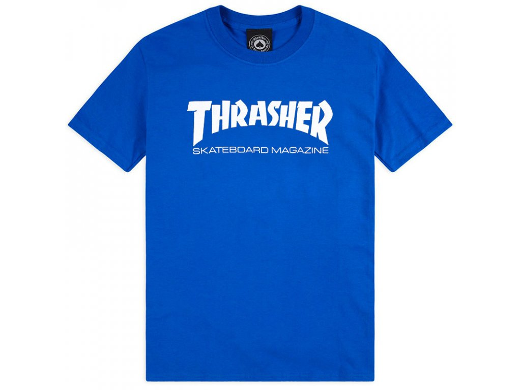 Thrasher tričko Skate MAG Royal Blue