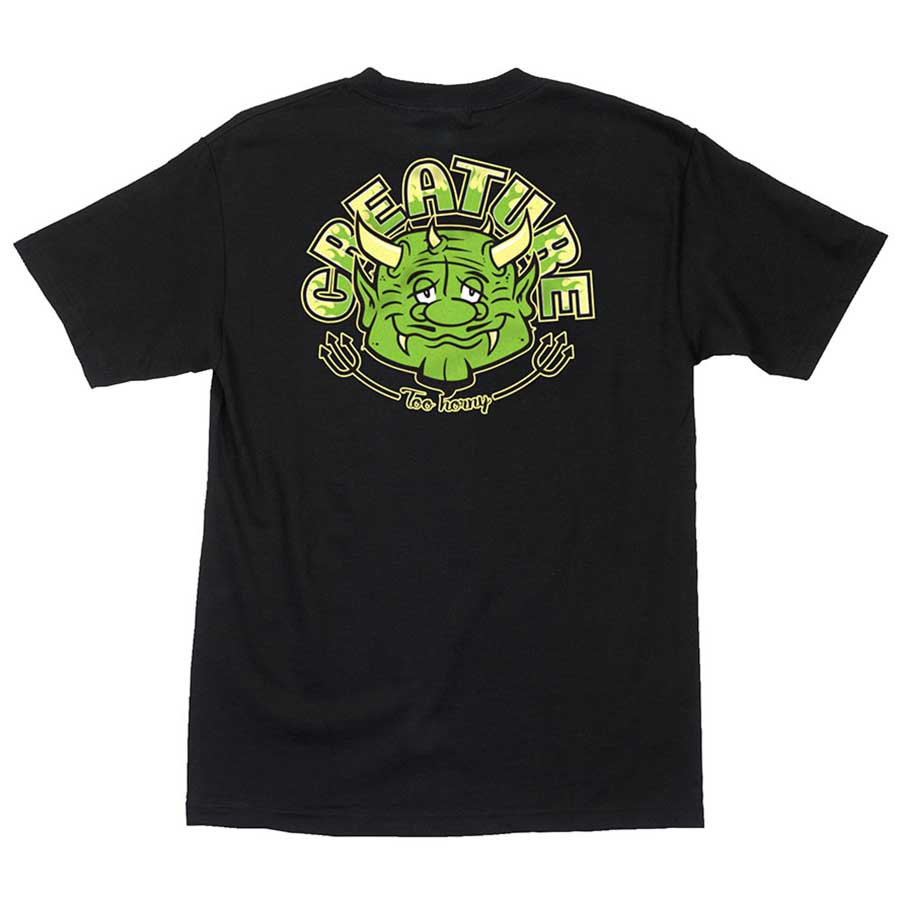 CREATURE tričko Too Horny S/S Regular T - Shirt Mens Creature - BLACK