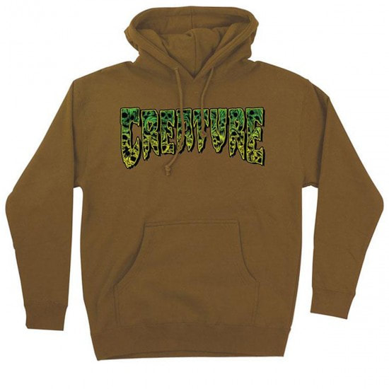 CREATURE mikina Catacomb P/O Hoodded Heavyweight Sweatshirt - SADDLE