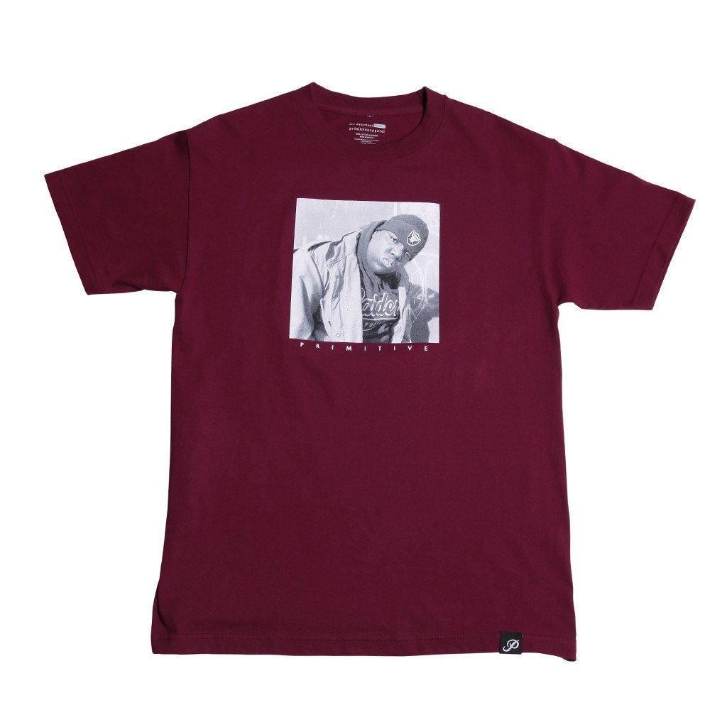 Primitive tričko - Biggie raiders Tee burgundy