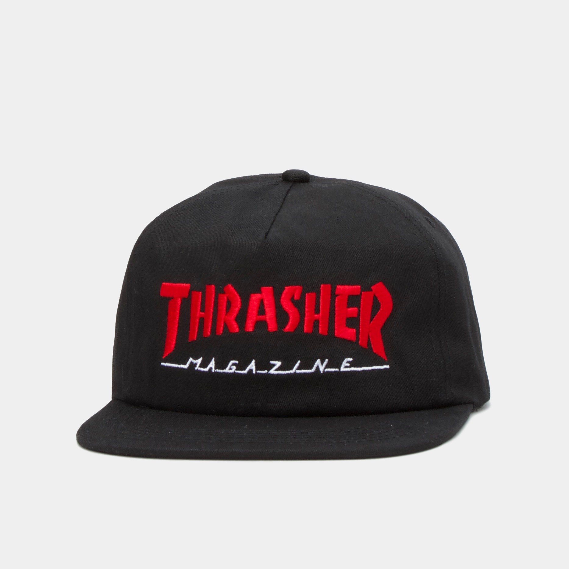 Thrasher snapback MAGAZINE LOGO TWO-TONE HAT BLACK/RED