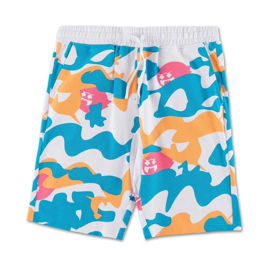 Pink Dolphin kraťasy GHOST CAMO SHORTS- white