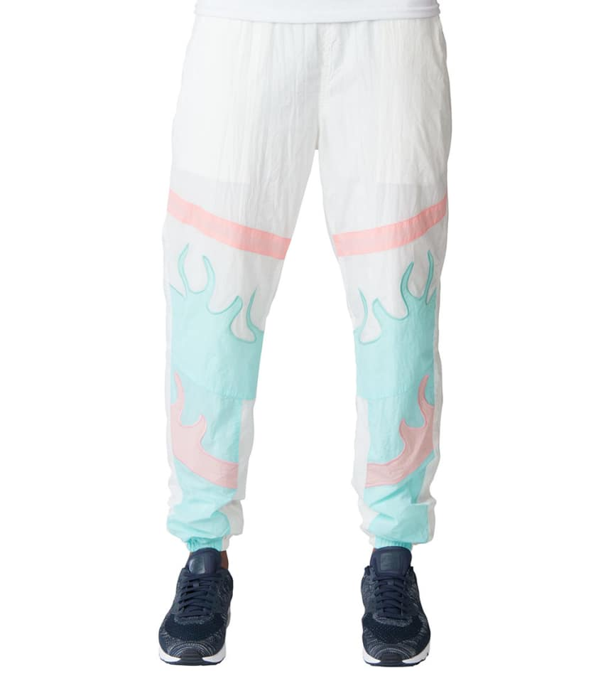 Pink Dolphin nohavice WAVE FLARE WINDBREAKER PANTS- white