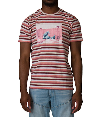 Pink Dolphin SHADES OF STRIPE TEE PINK
