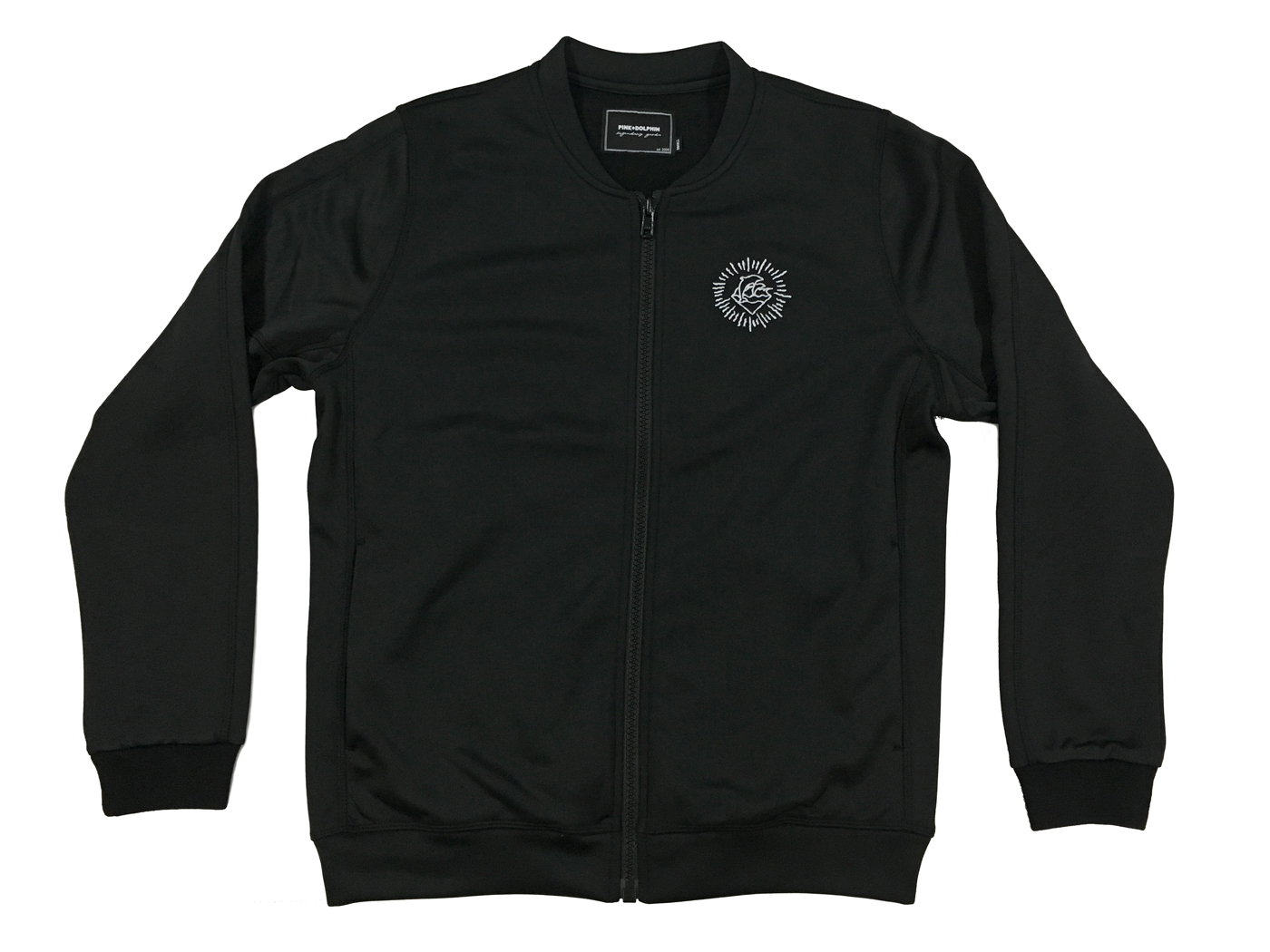 Pink Dolphin mikina WAVE PERFORMANCE JACKET BLACK