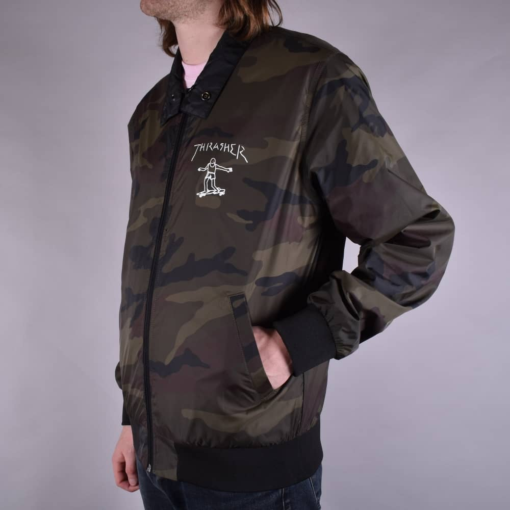 Thrasher GONZ REVERSIBLE COACH JACKET- black/camo
