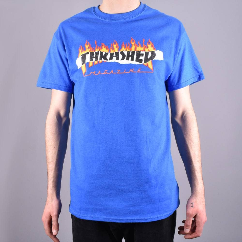 Thrasher tričko RIPPED ROYAL BLUE