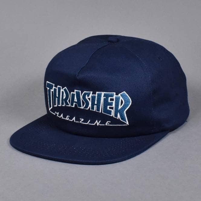 Thrasher šiltovka OUTLINED SNAPBACK NAVY/GRAY