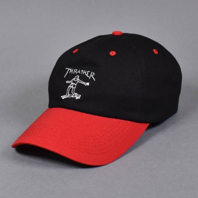 Thrasher šiltovka GONZ OLD TIMER HAT BLACK/RED