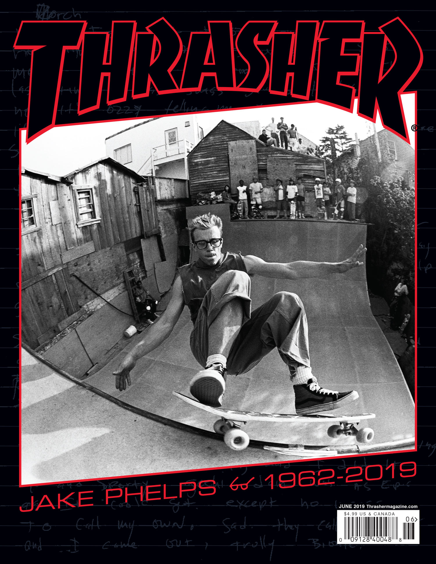 THRASHER MAGAZINE časopis JÚN 2019 (JAKE PHELPS tribute)