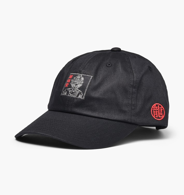 Primitive DBZ šiltovka Goku Reflective Dad Hat- black