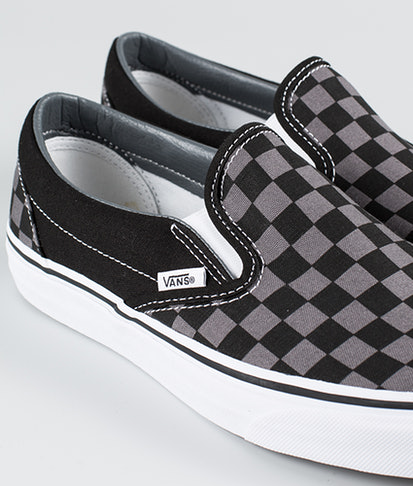 Vans topánky Classic slip-on (BLK/ PEWTER CHECKERBOARD)