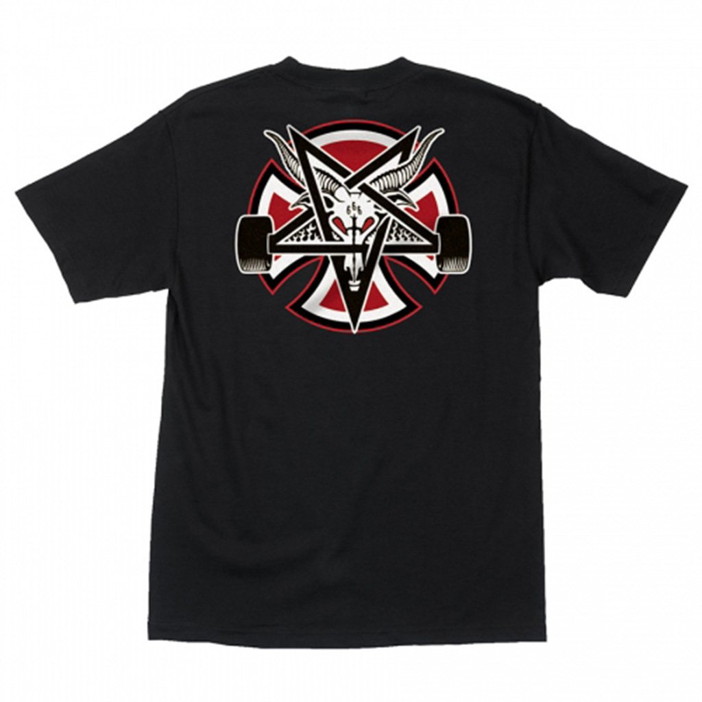 Thrasher tričko THRASHER PENTAGRAM CROSS S/S INDEPENDENT -BLACK